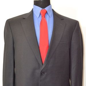 Jos A Bank 42L Sport Coat Blazer Suit Jacket Dark